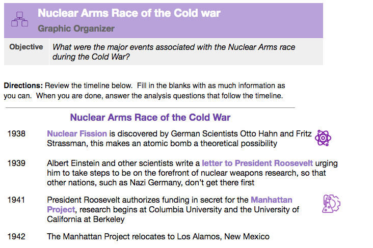 Nuclear Arms Race Of The Cold War Timeline New Visions Social Studies